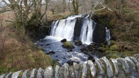 Awesome waterfall somenear Loch Awe